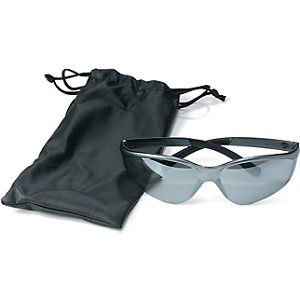 SILVER MIRROR SAFETY GLASSES W/BAG