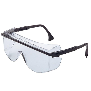 SAFETY GLASSES BLACK/CLEAR