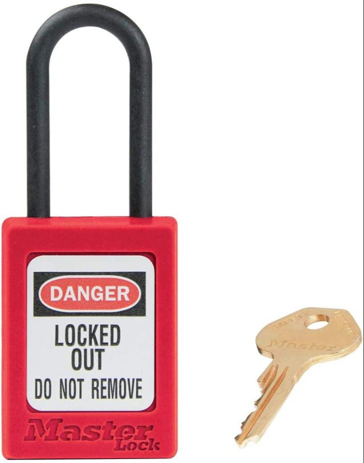 MAS0406RED	DIELECTRIC THERMOPLASTIC PADLOCK RED