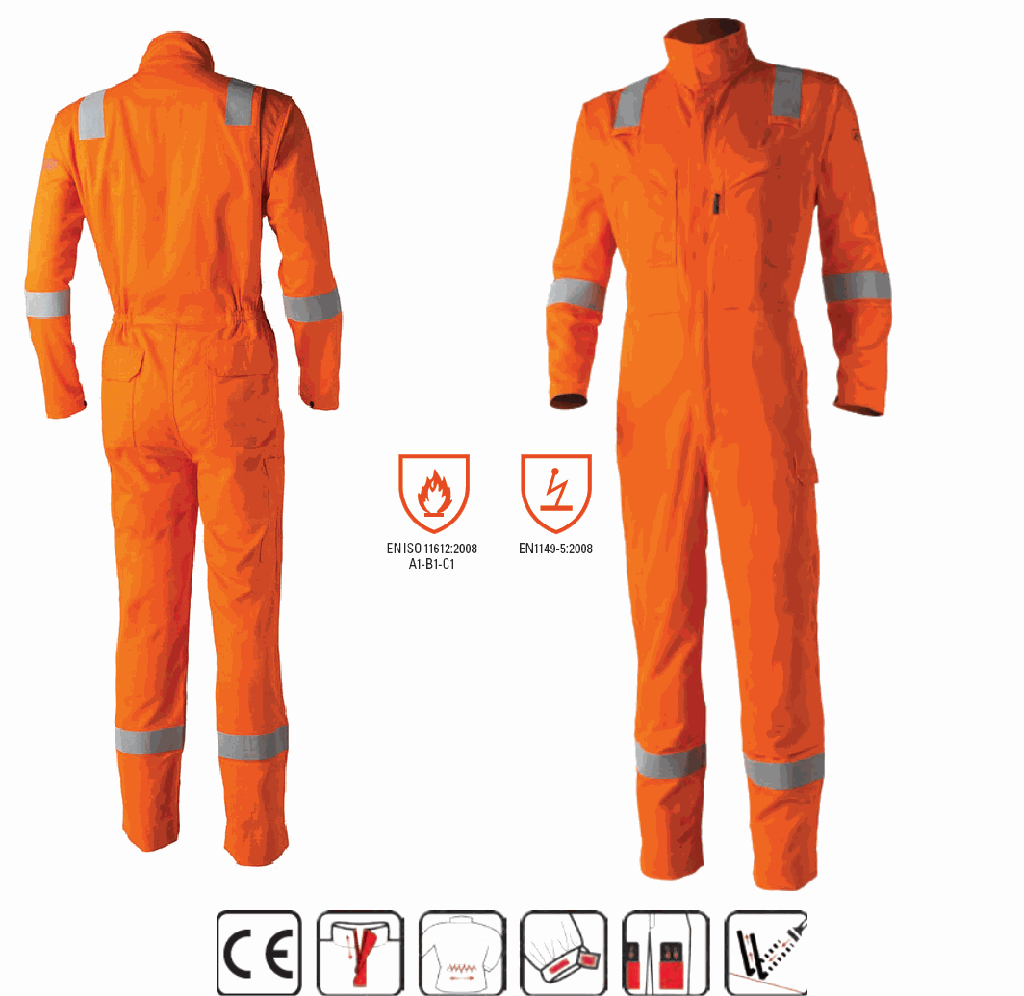 8MASCO Aso Multi Risk Coverall Orange