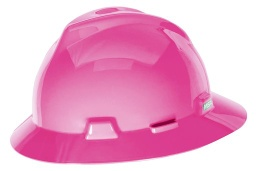 [MSA10156373] MSA Full Brim Hard Hat  [PINK]