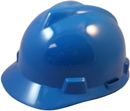[MSA463943] V-Gard Staz-On Hard Hat Blue