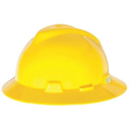 [MSA475366] MSA Full Brim Hard Hat [YELLOW]