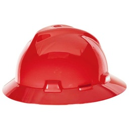 [MSA475371] MSA Full Brim Hard Hat [RED]