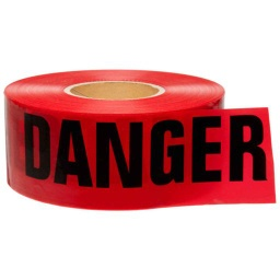 "[RTZDDD] BARRICADE TAPE ""DANGER"" RED 3"" x 1000"""